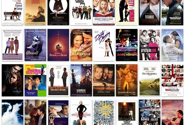 cele mai romantice filme din toate timpurile